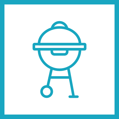 icônes barbecue princesse ledge gîte baie de somme