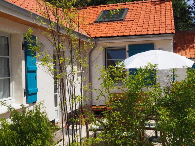 photo Extérieur terrasse Gîte baie de somme marquenterre