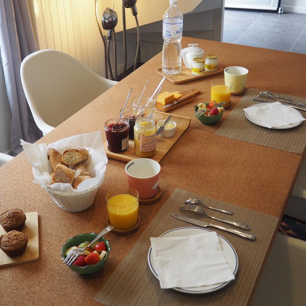 table petit dejeuner baie de somme plage gîte marquenterre
